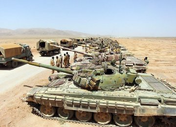 Army Starts Drills