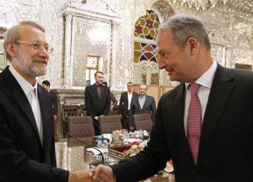 Larijani, Austrian Official Discuss JCPOA