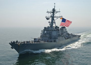 US Navy Fires Flare at Iran Vessel