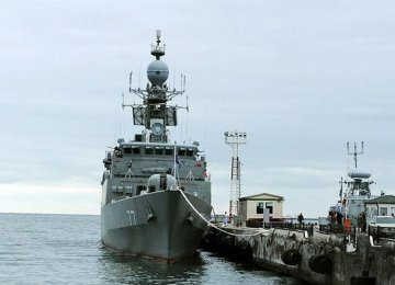 Naval Flotilla Docks at Russian Port