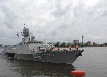 Russian Flotilla Docks in Caspian Port