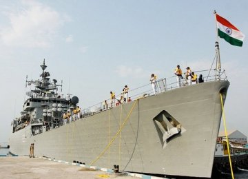 Indian Frigate Docks at Bandar Abbas