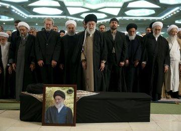 Ayatollah Shahroudi Laid to Rest