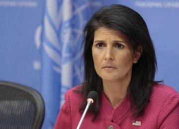 Haley Pushes UN to Toe US Anti-Iran Line