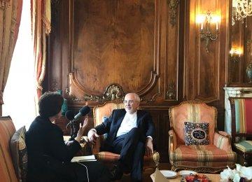 Zarif Meets Omani Counterpart