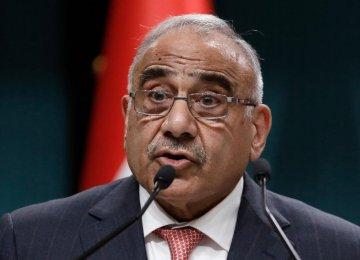 Iraq Backs Stabilizing Efforts in Region Amid Iran-US Standoff