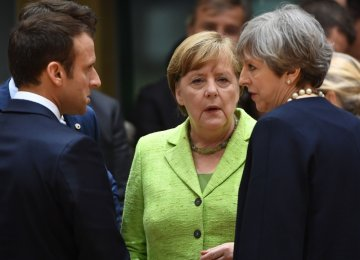 French, German and British leaders issued a joint statement on Friday in defense of the Iran nuclear deal.