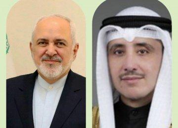 Iran, Kuwait FMs Confer on Phone