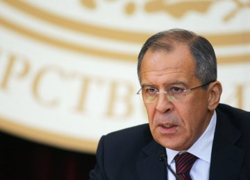 Lavrov: Tehran Part of Int'l Anti-Terror Front