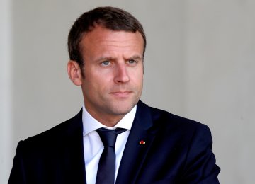 Macron Urges Dialogue With Tehran
