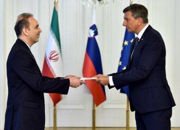Envoy Presents Credentials to Slovenia President
