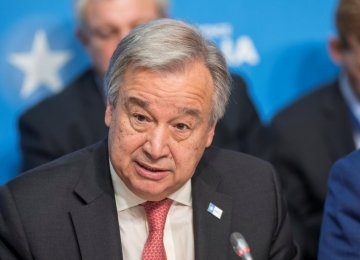 UN Chief: Persian Gulf De-Escalation Crucial