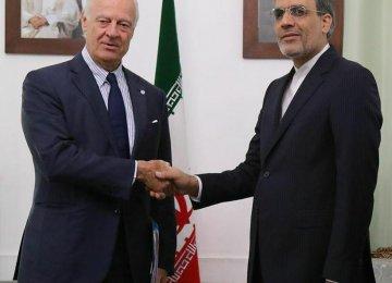 UN's Syria Envoy Confers With Deputy FM