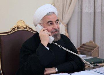 Rouhani, Sheikh Hamad Discuss Economic Coop.