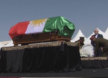 Zarif Attends Talabani's Funeral