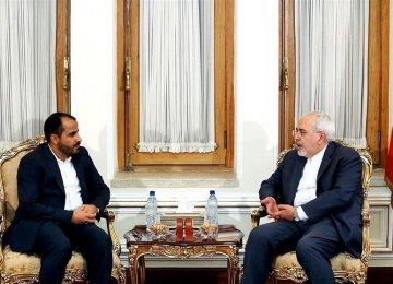 Zarif, Ansarullah Spokesman Discuss Yemen