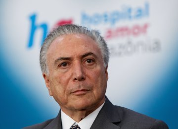 Temer, Zarif Confer in Brasilia