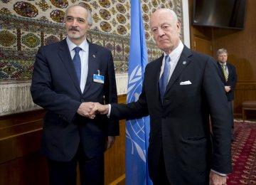 Syrian Gov't Delegation to Arrive in Geneva for Peace Talks