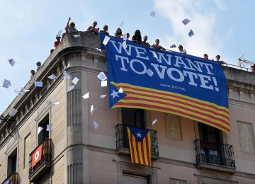 Catalonia's leaders retort they have a right to decide their future even if it's not allowed by the constitution.