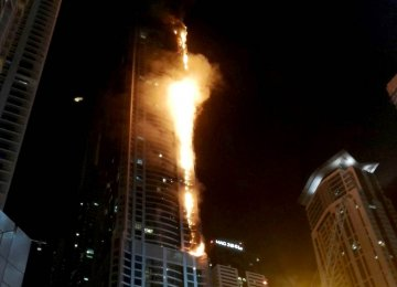 Dubai Skyscraper Burns for Second Time