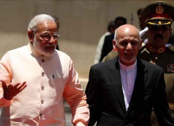 """India, Afghan Leaders Vow """"Firm Resolve""""  to End Terror"""