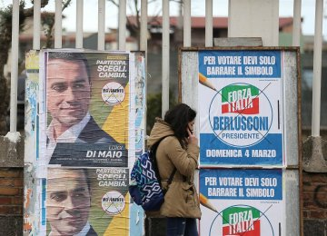 The outcome is far from certain and could end up in a draw between the anti-establishment Five Star Movement, three-time prime minister Silvio Berlusconi's rightwing coalition and the ruling center-left Democratic Party.