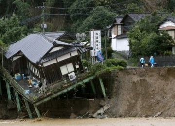 Deaths Rise to  15 in Japan Floods