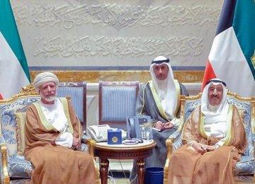 Oman FM Meets Kuwait  Emir Amid Arab Crisis