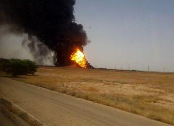 Oil, LNG Pipeline Blast Prompts Evacuation in Khuzestan Village