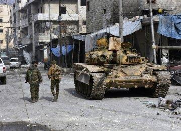 Militants Evacuate Enclave in Southwestern Syria