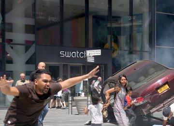 New York Car Mows Pedestrians