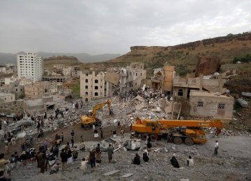 Saudi-Led Airstrikes Kill 14 Civilians in Sanaa