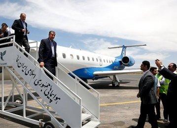 Iran Roads Minister in Ashgabat