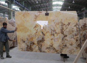 Iran is ranked third in terms of variety and production volume of ornamental stones after China and India.