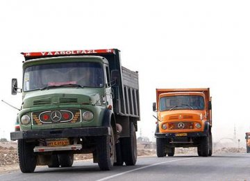 Road haulage accounts for 90% of Iran's goods transportation.