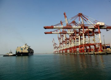 Maritime transportation accounts for 85% of Iran's foreign trade.