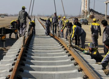 Track-laying of more than 3,500 kilometers of railroads is currently underway, with 450 kilometers in the final stages.