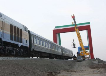 The completed section of Astara-Astara Railroad was tested in March 2017 after a train set off on a maiden journey from Azerbaijan.