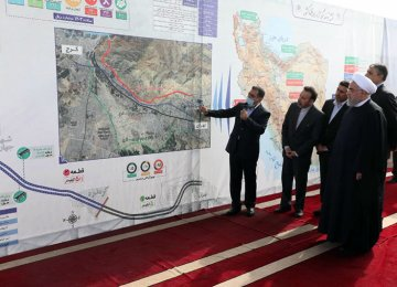 Sections of Tehran-Karaj Freeway Project Inaugurated