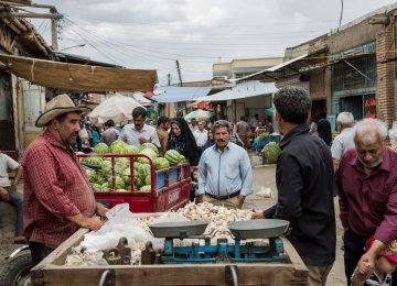 A local market in the city of Neishabour in the northeastern Khorasan Razavi Province