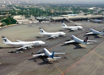Mehrabad Int'l Airport's Monthly Traffic Reviewed