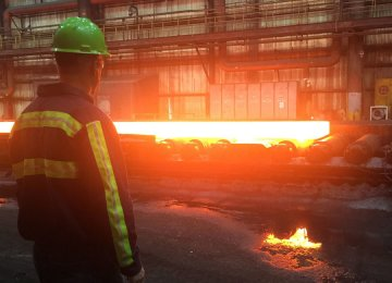 Iran's Steel Output Rises to 12.5m Tons