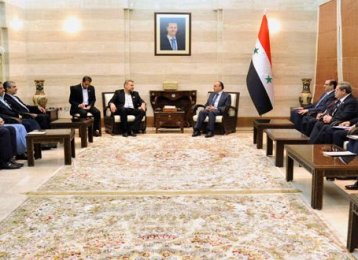 Syria Invites Iranian Companies to Implement Reconstruction Projects