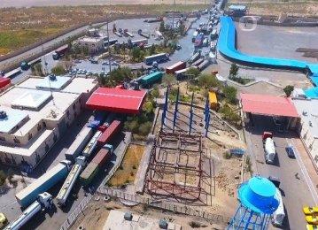 Annual Exports via Milak, Mirjaveh Top 1.5m Tons