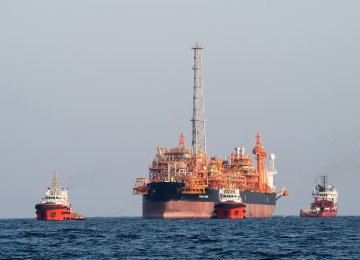 Installation of Iran's FPSO Begins Near South Pars