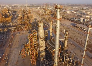 The complex is provided with 77,000 bpd of gas condensates.