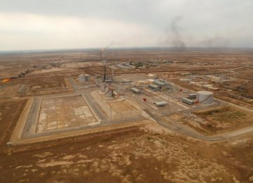 An aerial view of Mansouri oilfield.