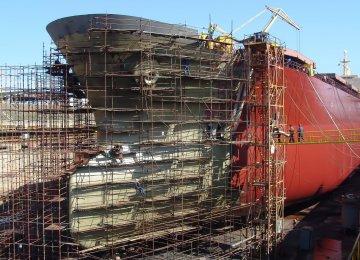Shipbuilding contracts of state-owned shipping company IRISL with domestic firms have hit the skids.