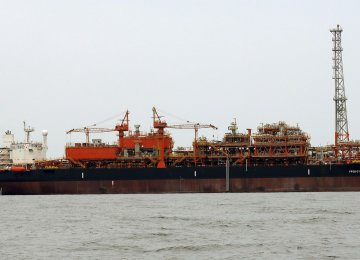 A FPSO is a ship-shaped vessel, with processing equipment on the deck as well as hydrocarbon storage units.
