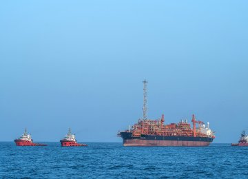 Iran's floating production storage and offloading vessel is named FPSO Cyrus. (Photo: Mojtaba Mohseni)
